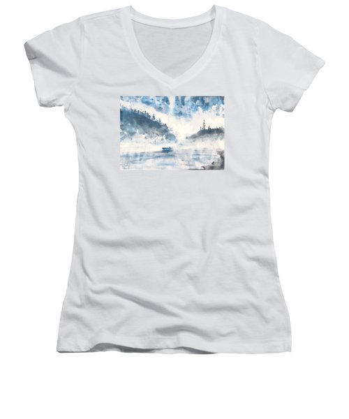 Smoke On The Water  Women's V-Neck (Athletic Fit)