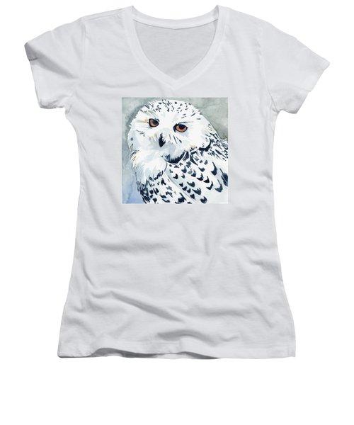 Snowy Owl Women's V-Neck