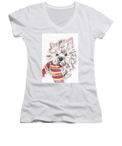 Snowy  Women's V-Neck T-Shirt