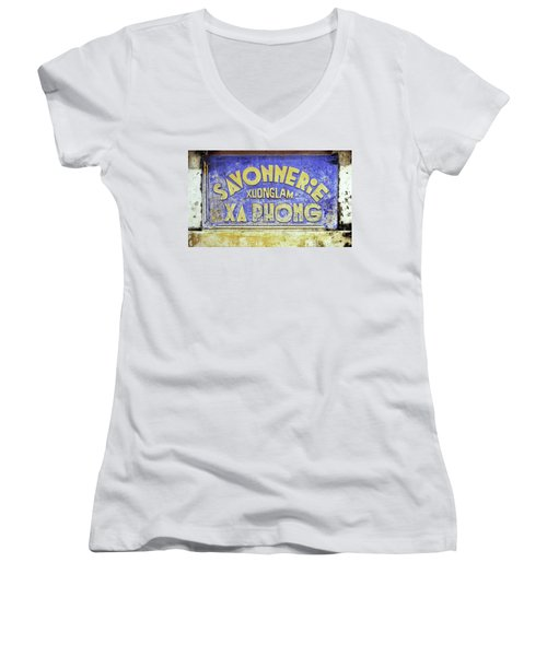 Soap Factory Sign Women's V-Neck (Athletic Fit)