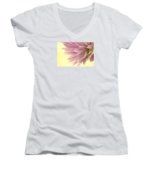 Soft And To The Point Women's V-Neck T-Shirt (Junior Cut) by Sandra Foster