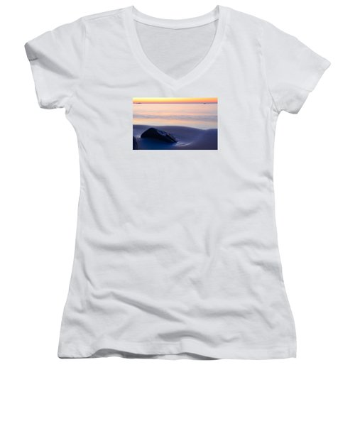 Solitude Singing Beach Women's V-Neck (Athletic Fit)