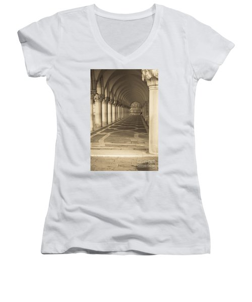 Solitude Under Palace Arches Women's V-Neck