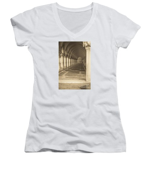 Solitude Under Palace Arches Women's V-Neck T-Shirt