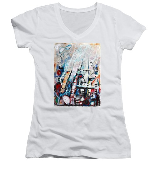 Sometimes The Wind Just Blows So Hard Women's V-Neck (Athletic Fit)