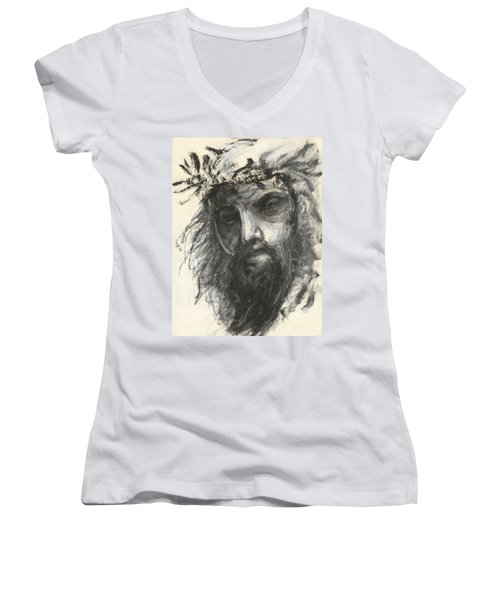 Son Of Man Women's V-Neck (Athletic Fit)