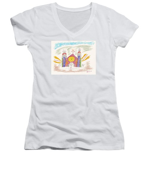 Spirit Of St Francis Women's V-Neck T-Shirt