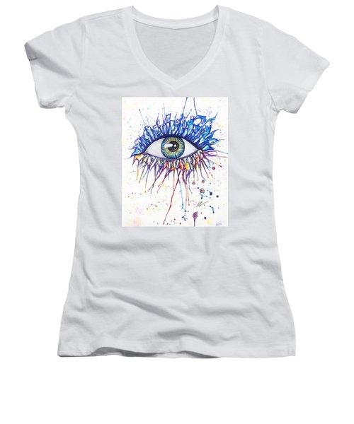Splash Eye 1 Women's V-Neck