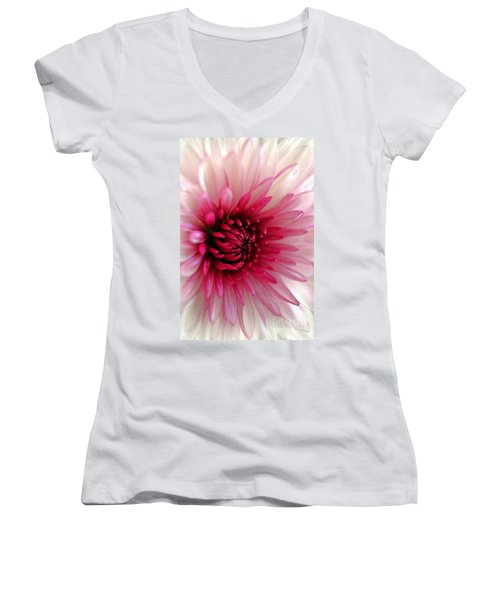 Splash Of Pink Women's V-Neck T-Shirt