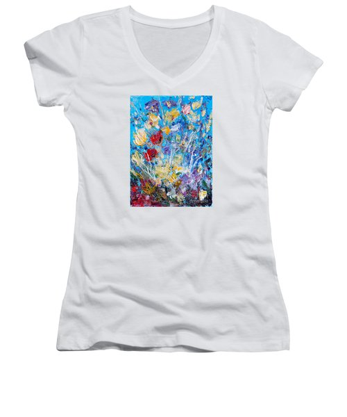 Spring  2 Women's V-Neck T-Shirt
