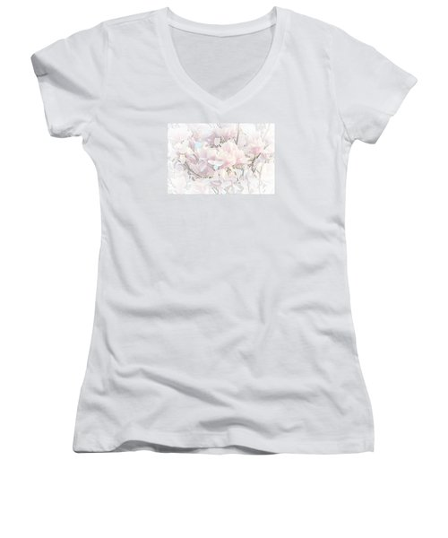 Women's V-Neck T-Shirt (Junior Cut) featuring the photograph Spring Has Arrived II  by Susan  McMenamin