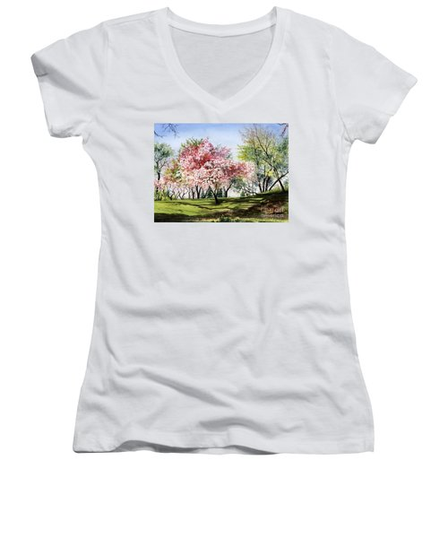 Spring Morning Women's V-Neck T-Shirt