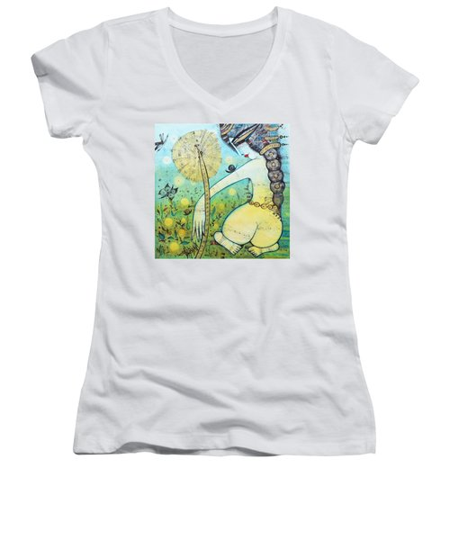 Springtime Women's V-Neck T-Shirt (Junior Cut)
