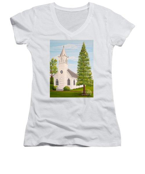 St. Gabriel The Archangel Roman Catholic Church Women's V-Neck T-Shirt