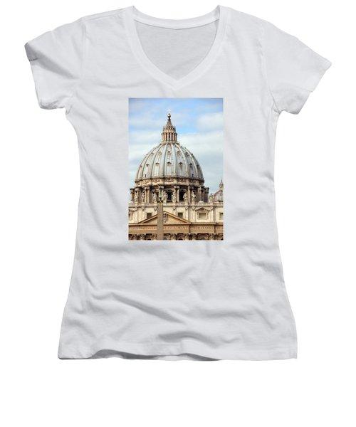 St. Peters Basilica Women's V-Neck T-Shirt