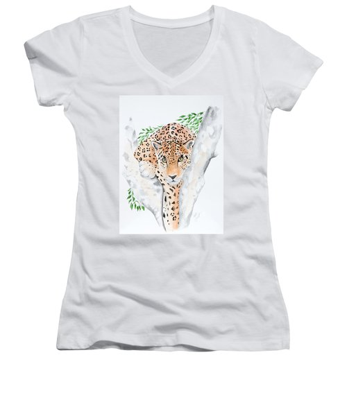 Stalker In The Trees Women's V-Neck (Athletic Fit)