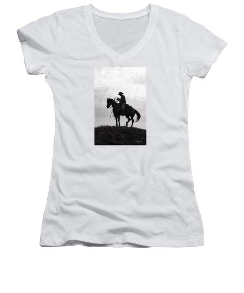 Standing Watch 2013 Women's V-Neck T-Shirt (Junior Cut) by Joan Davis