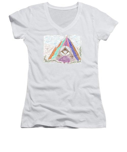 Stargate Women's V-Neck T-Shirt (Junior Cut) by Mark David Gerson