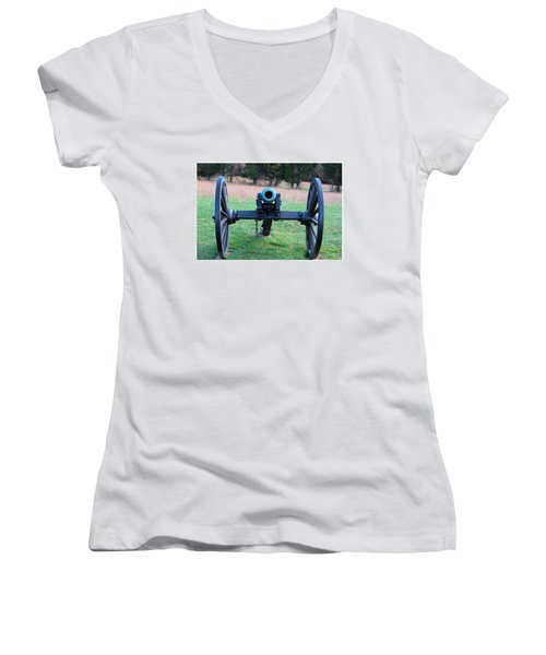 Staring Down The Barrel Women's V-Neck T-Shirt