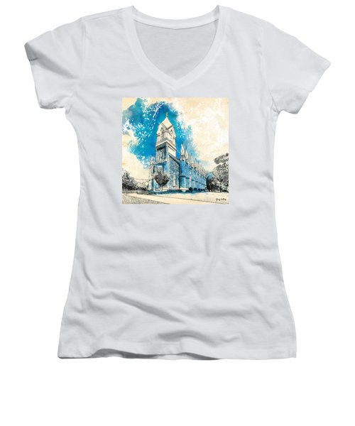 Stately Spires Women's V-Neck