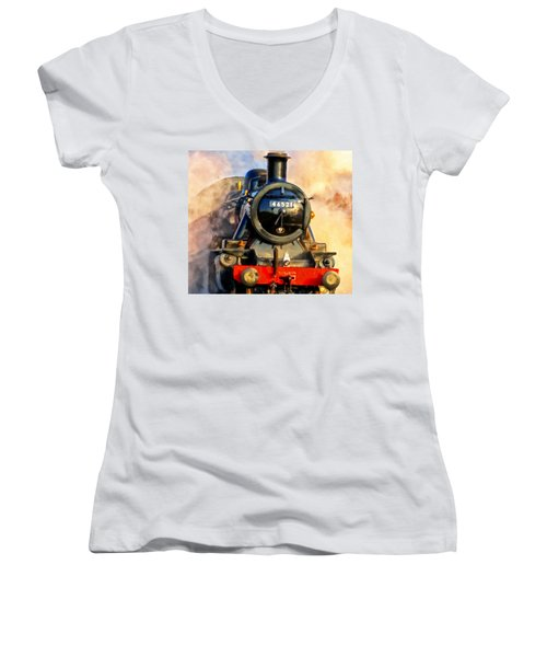 Steam Power Women's V-Neck T-Shirt