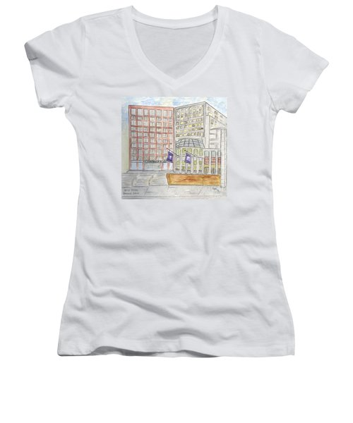 Nyu Stern School Of Business Women's V-Neck (Athletic Fit)