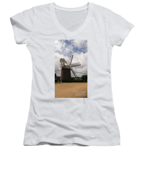 Still Turning In The Wind Women's V-Neck (Athletic Fit)