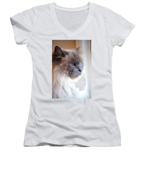 Still Waiting Women's V-Neck T-Shirt