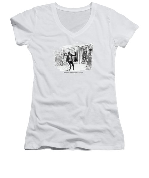 Stop Knocking The Paintings Women's V-Neck