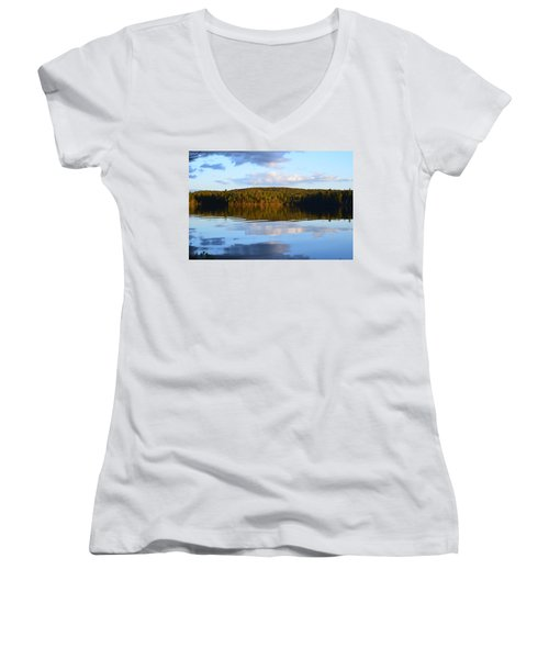 Stormclouds Scatter Women's V-Neck T-Shirt (Junior Cut) by David Porteus
