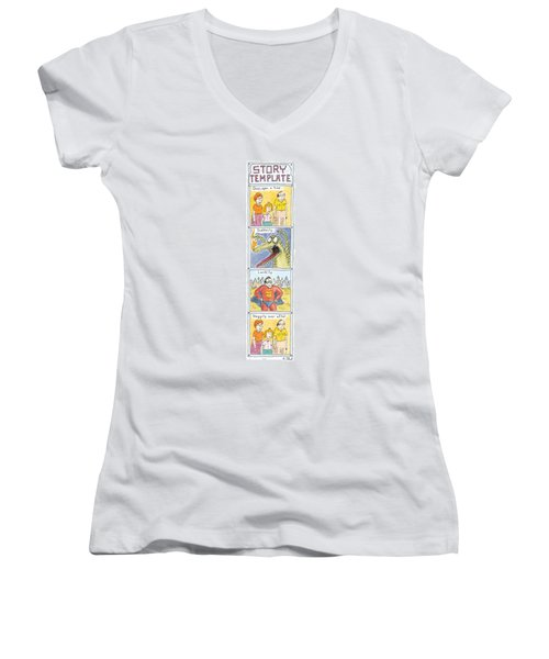 Story Template Women's V-Neck