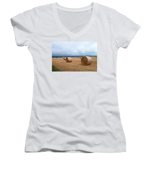 Straw For The Garden Maybe Women's V-Neck (Athletic Fit)