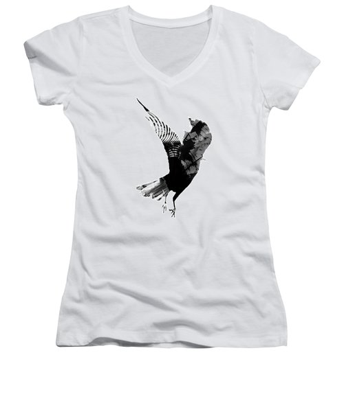 Street Crow Women's V-Neck T-Shirt