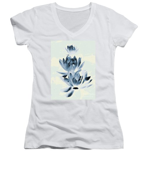 Study In Blue Women's V-Neck (Athletic Fit)