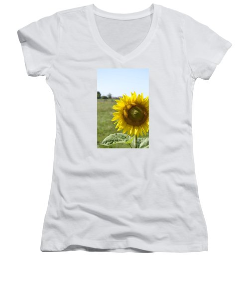 Women's V-Neck T-Shirt (Junior Cut) featuring the photograph Summer Lovin by Traci Cottingham