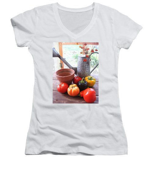 Summer's Bounty   Women's V-Neck (Athletic Fit)