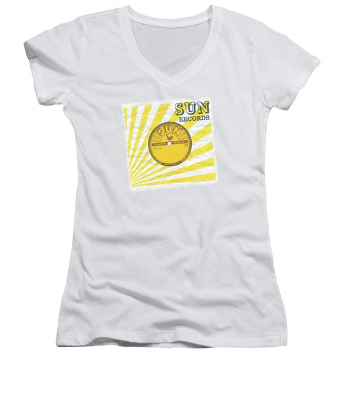 Sun - Fourty Five Women's V-Neck T-Shirt (Junior Cut) by Brand A