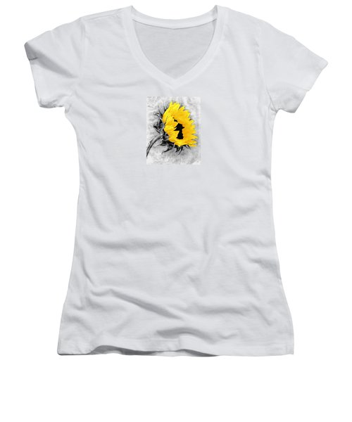 Women's V-Neck T-Shirt (Junior Cut) featuring the photograph Sun Power by I'ina Van Lawick