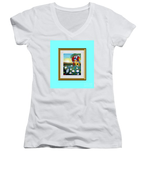 Sunrise In Paradise. Inspiration Collection Women's V-Neck