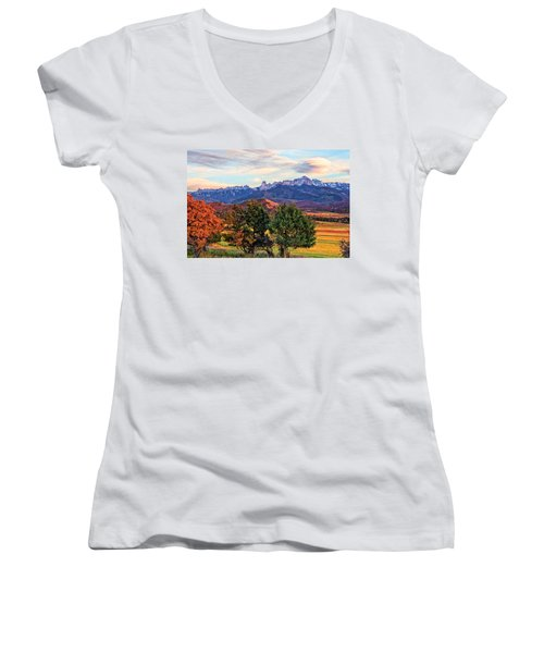 Sunset Over Owl Creek Pass Women's V-Neck