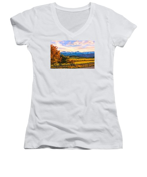 Sunset View Women's V-Neck