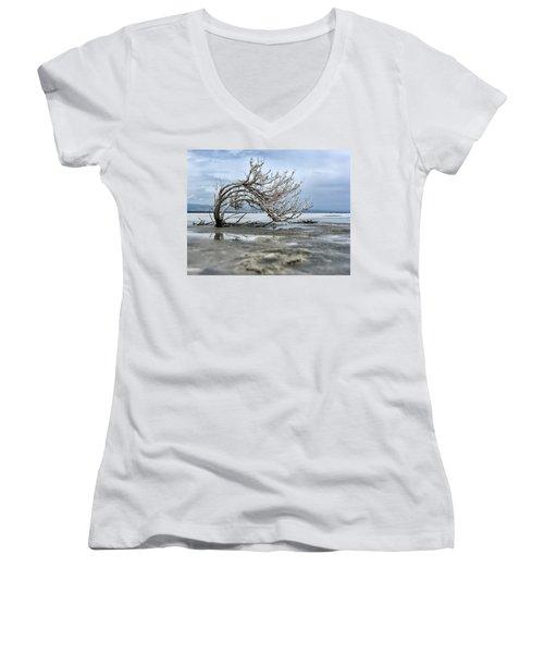 A Smal Giant Bush Women's V-Neck T-Shirt