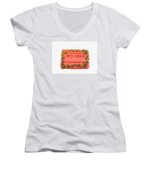 Sweet Welcome Mat Women's V-Neck T-Shirt