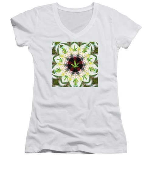 Sweetleaf Mandala Women's V-Neck (Athletic Fit)