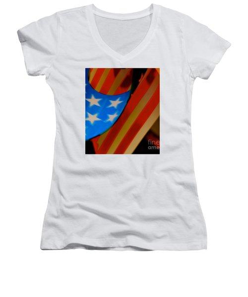 Swirled Stars Women's V-Neck T-Shirt