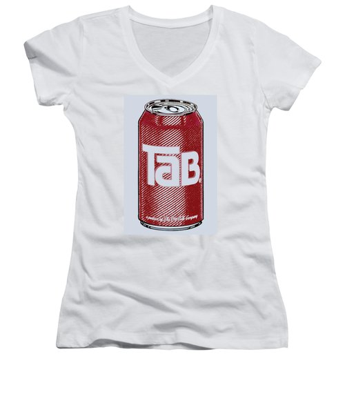 Tab Ode To Andy Warhol Women's V-Neck