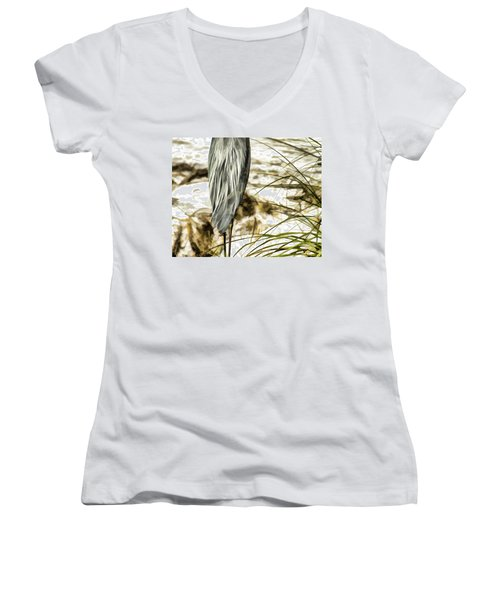 Tail Feathers Women's V-Neck (Athletic Fit)