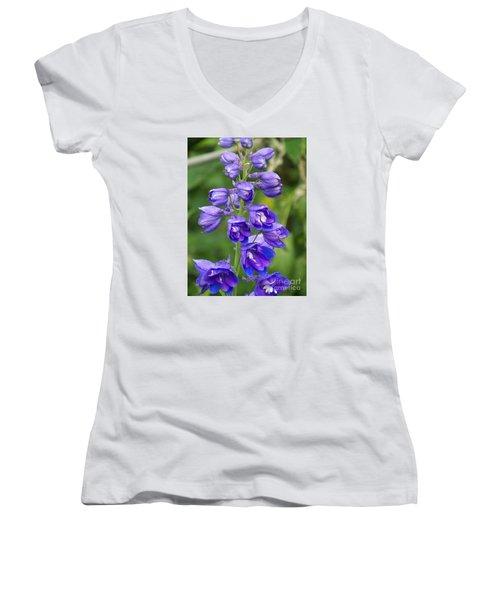 Women's V-Neck T-Shirt (Junior Cut) featuring the photograph Tall Garden Beauty by Eunice Miller