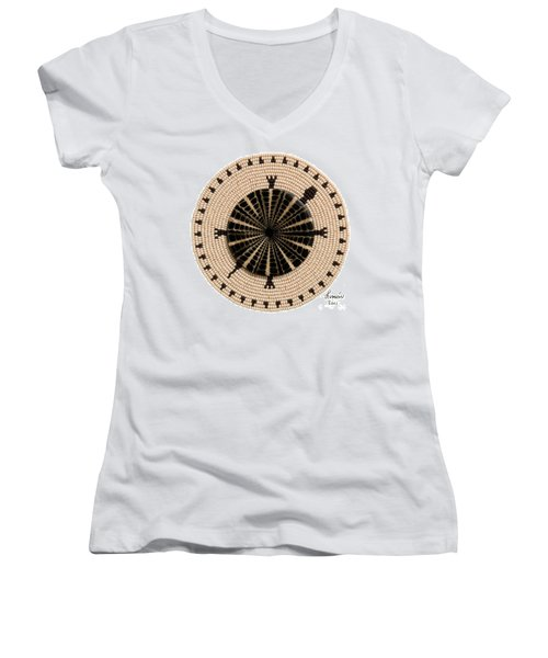 Tan Shell Women's V-Neck