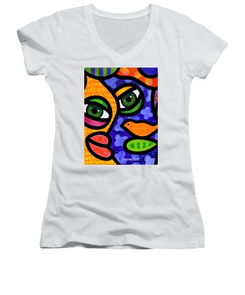 Tangier Women's V-Neck T-Shirt